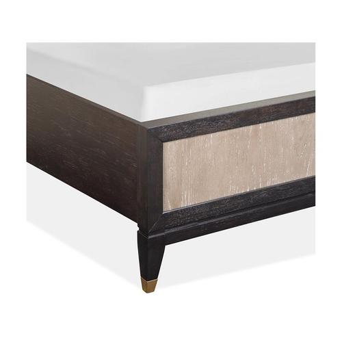 Magnussen Home - Complete Queen Panel Bed w/Uph./PU Fretwork HB