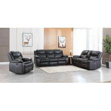 8006 GRAY 3PC Air Leather Power Recliner & USB Sofa SET