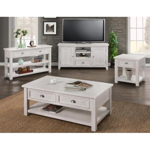 SOFA TABLE - White Stain