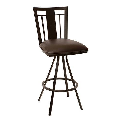 "Cleo 30"" Transitional Barstool In Coffee and Auburn Bay"
