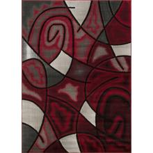 See Details - T-860 RED Contemporary Abstract Swirl Rug