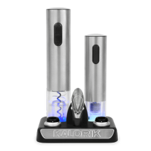 Product Image - Kalorik Wine Lovers Set with Opener and Preserver, Stainless Steel