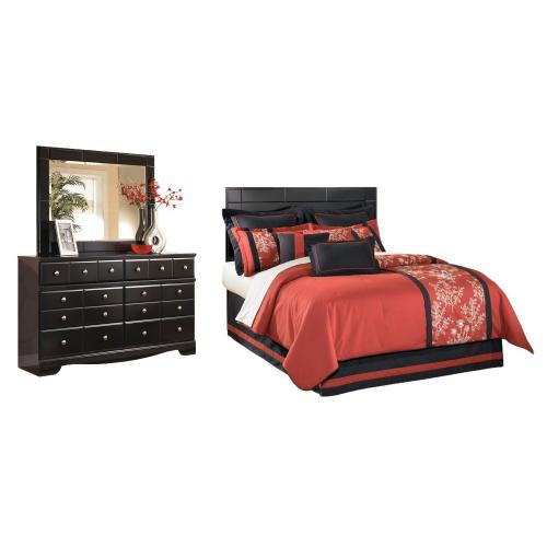 Ashley - Queen/full Panel Headboard With Mirrored Dresser