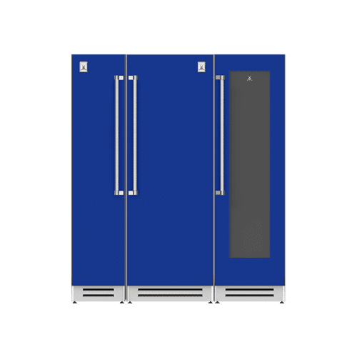 "Hestan - 72"" Column Freezer (L), Refrigerator and Wine Cellar ® Ensemble Refrigeration Suite - Prince"