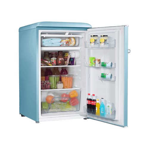 Galanz 3.5 Cu Ft Retro Single Door Refrigerator in Bebop Blue
