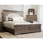 Highland Park King Bed, Waxed Driftwood