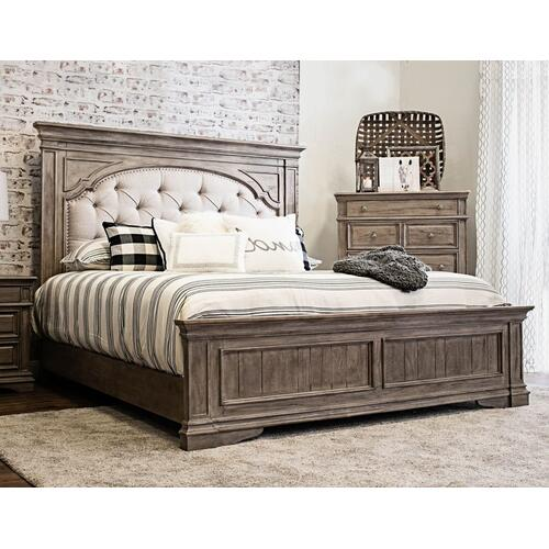 Highland Park Queen Bed, Waxed Driftwood
