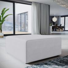 See Details - Mingle Fabric Ottoman in White