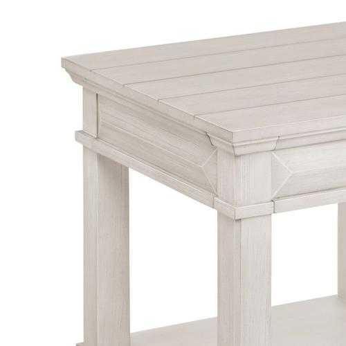 Passages Light End Table, White