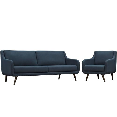 Verve Living Room Set Set of 2 in Azure