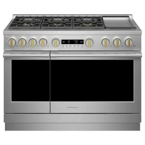 "Monogram 48"" All Gas Professional Range with 6 Burners and Griddle (Natural Gas) - Coming Spring 2021"