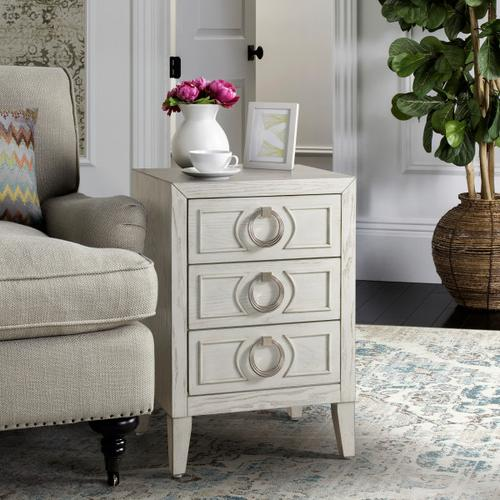 Deco Chic 3 Drawer Accent Chest in White