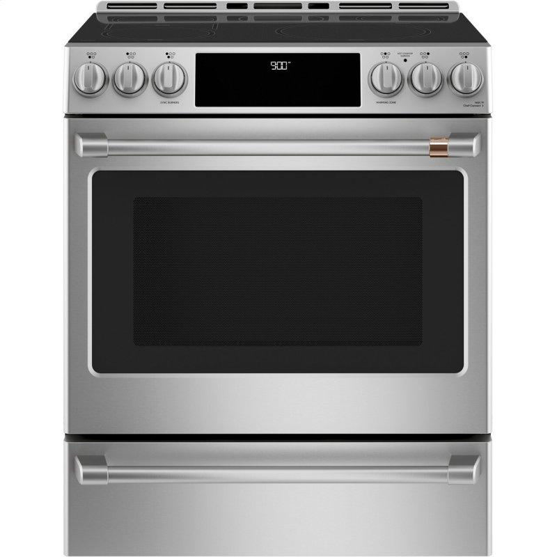 """30"""" Smart Slide-In, Front-Control, Induction and Convection Range with Warming Drawer"""