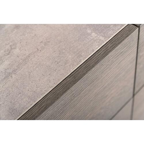 Nova Domus Bronx Italian Modern Faux Concrete & Grey Nightstand