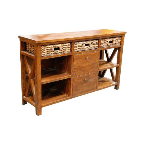 Capris Furniture - Buffet, Available in Grey Wash or Royal Oak Finish.