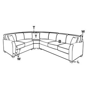 203 SECTIONAL PIECES