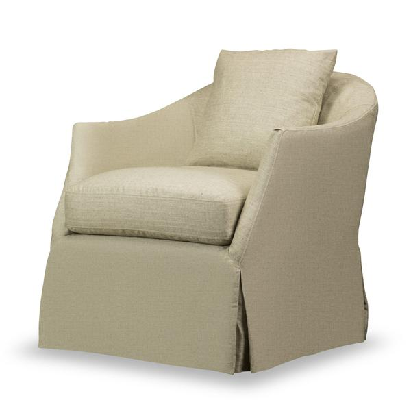 See Details - Amy Slipcovered Swivel Chair in Windfield Natural