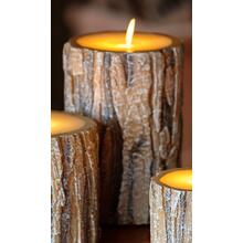 "6"" Tree Bark LED Candle"