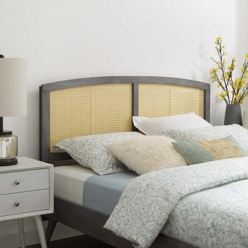 Halcyon Cane Full Headboard in Gray