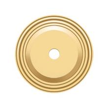 """See Details - Base Plate for Knobs, 1-1/2"""" Diam. - PVD Polished Brass"""