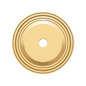 "Base Plate for Knobs, 1-1/2"" Diam. - PVD Polished Brass Product Image"