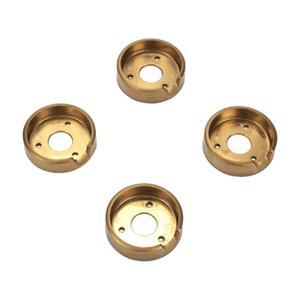 Set of 4 Range Brass Knob Bezels, Oven