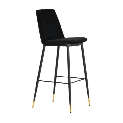 Tov Furniture - Evora Black Velvet Counter Stool (Set of 2)