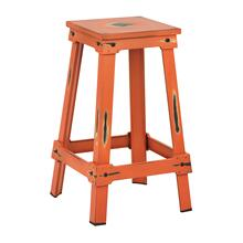 "New Castle 26"" Antique Orange Metal Barstool, Kd"