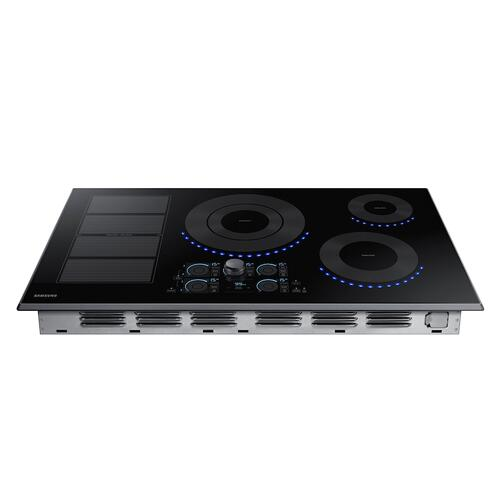 "36"" Smart Induction Cooktop in Black Stainless Steel"