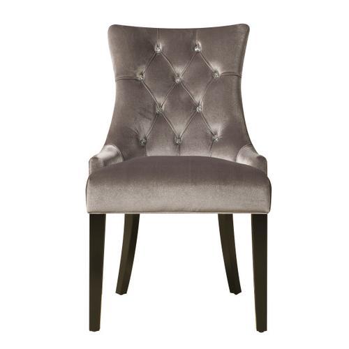 Accentrics Home - Dining Chair Chrome Velvet