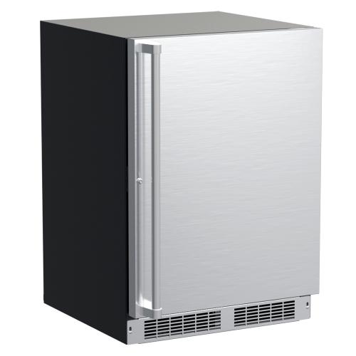 Gallery - 24-In Professional Built-In Freezer With Reversible Door with Door Style - Stainless Steel