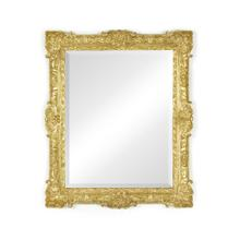 French 19th century style bright gilded mirror