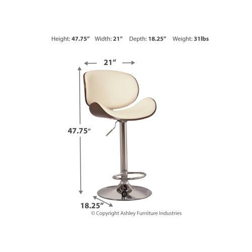 Upholstered Adjustable Barstool