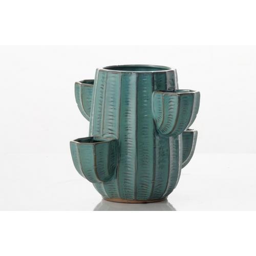 Alfresco Home - Cactus Five Pocket Strawberry Jar (min. 4 pcs) - Green