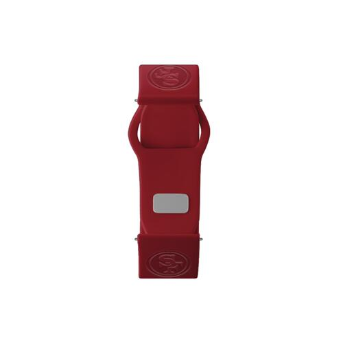 San Francisco 49ers Debossed Silicone Watch Band (20mm) Crimson Red
