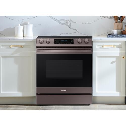 6.3 cu. ft. Smart Slide-in Electric Range with Air Fry in Tuscan Stainless Steel