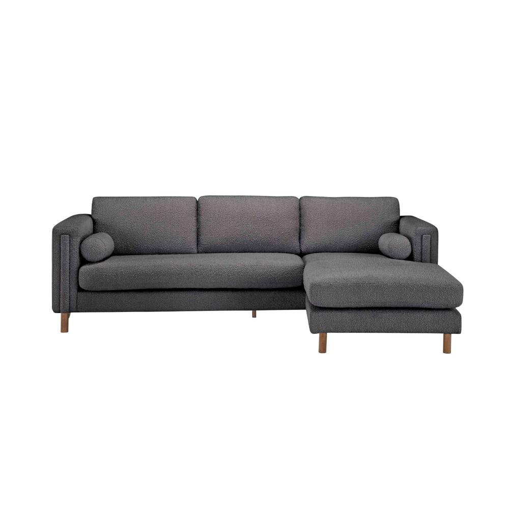 Upholstered-Bi-Sectional Sofa 103in. & Ottoman in Truffle Boucle by A.R.T. Furniture