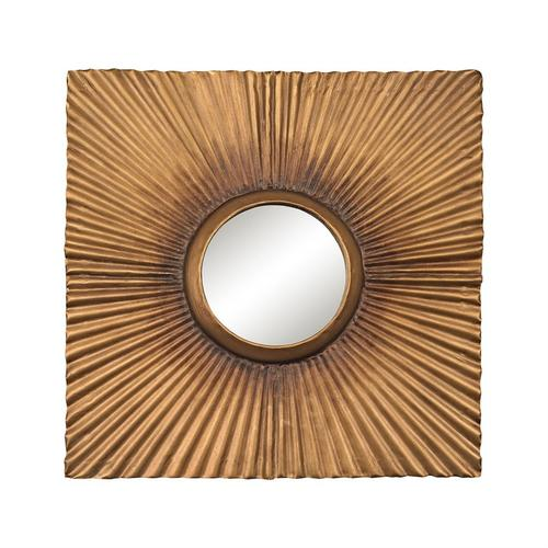 See Details - Terraced Gold Panel Mirror