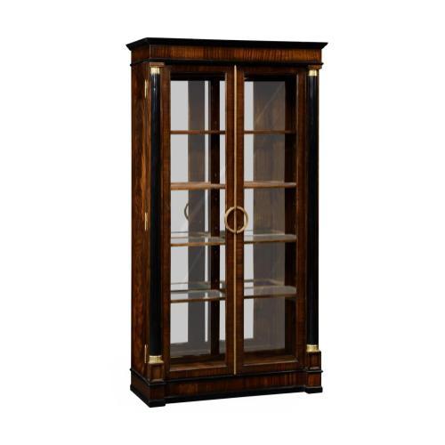Mahogany Regency style bookcase with columns