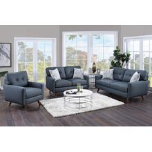 See Details - Hutton Teal Sofa, Loveseat & Chair, U2135