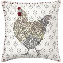 Retired Coq-A-Doodle Pillow, WHITE, 18X18