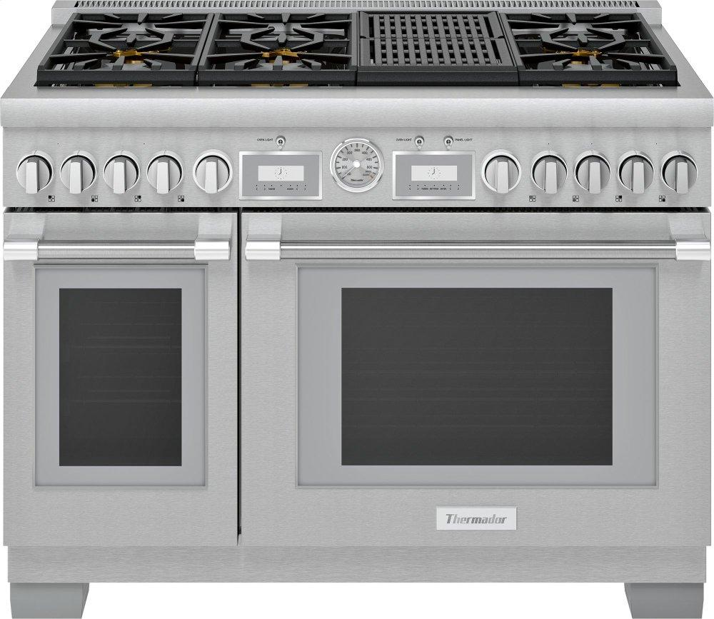 ThermadorGas Professional Range 48'' Pro Grand® Commercial Depth Prg486wlg