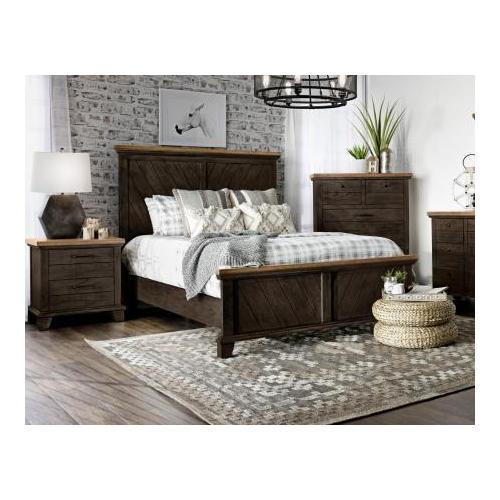 Bear Creek King Bed, Brown