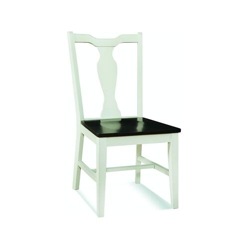 Splatback Chair in Black Pearl/Shell