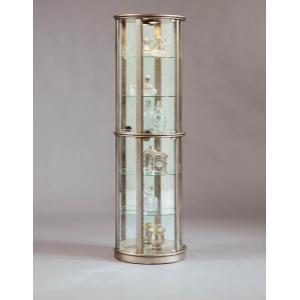Pulaski Furniture - Lighted Half Round 5 Shelf Curio Cabinet in Aged Silver