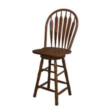 "DLU-B30-NUT  30"" Swivel Barstool  Nutmeg"