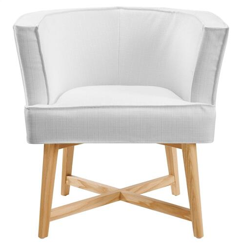 Modway - Anders Upholstered Fabric Accent Chair in White