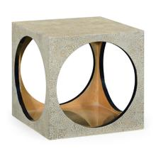 See Details - Square Circular Cut-Out Eggshell Stool