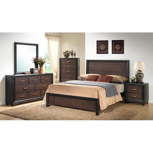 Prelude King Panel Bed Headboard & Footboard Honey Black/brown