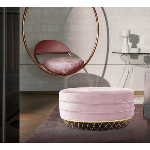 "Revolve Velvet Ottoman  Coffee Table - 36"" W x 36"" D x 17"" H"